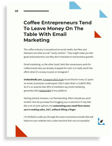 Free Guide:7 Ecommerce Emails that Sell Coffee on Autopilot